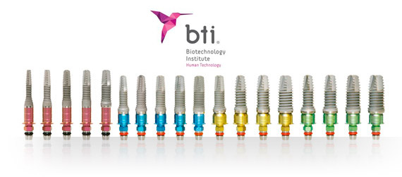 implantes dentales bti
